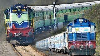 Video Single Line Crossing Trains | ALCOs | Garibrath Express | Indian Railways MP3, 3GP, MP4, WEBM, AVI, FLV Juli 2018