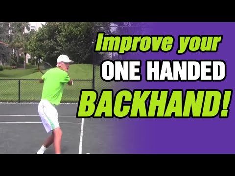 How To Improve Your One-Handed Backhand by TomAveryTennis.com