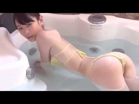 Japanese Gravure Idols Miyu Suenaga in the bathroom (видео)