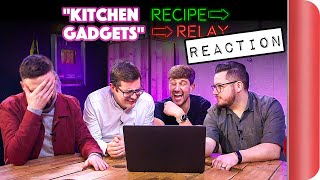 REACTING to KITCHEN GADGETS Recipe Relay Video by SORTEDfood