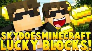SKYDOESMINECRAFT YOUTUBER BLOCK MOD CHALLENGE (Minecrafter Mod) | Minecraft - YouTuber Block Mod