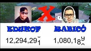 EDUKOF x RABICO   = AM3NIC PERDENDO  INSCRITOS EM TEMPO REAL