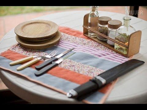 cómo hacer mantel - En este video de http://LasManualidades.com te enseñaremos cómo hacer un práctico mantel con retazos de tela!