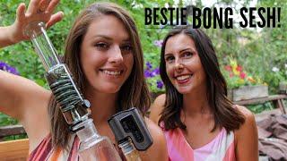Bestie Bong Sesh Ft. Freeze Pipe + Dab Kit by Dab Spot
