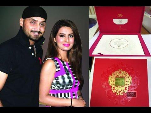 Harbhajan Singh Geeta Basra's grand wedding invite