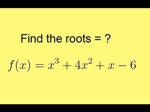 Algebra – Synthetic Division (5 of 9) Finding the Roots