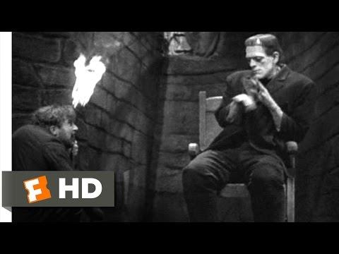 Frankenstein (4/8) Movie CLIP - The Monster Meets Fire (1931) HD