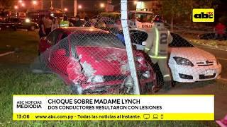 Dos heridos tras choque sobre Madame Lynch