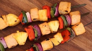 Spicy Pineapple Skewer Recipe | Vegetarian BBQ by The Domestic Geek