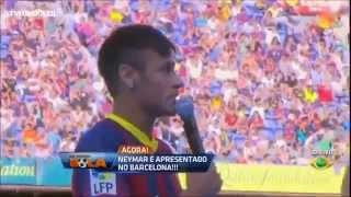 Download Video Neymar é apresentado ao Barcelona no Camp Nou MP3 3GP MP4