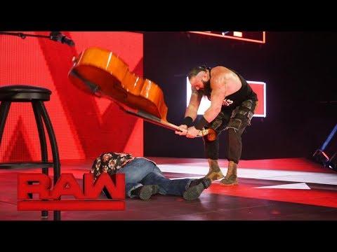 (Full Segment) Braun Strowman bashes Elias with a bass: Raw, Feb. 12, 2018