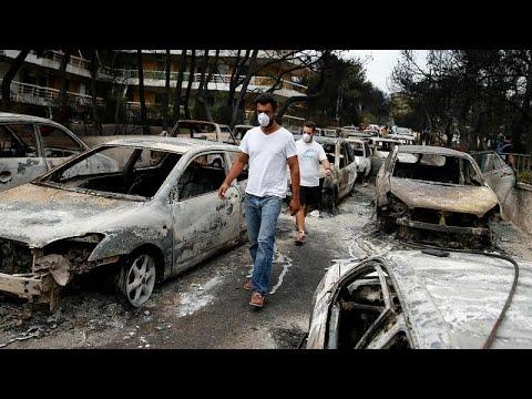 Οι εικόνες της καταστροφής μετά την πυρκαγιά στην Αττική…