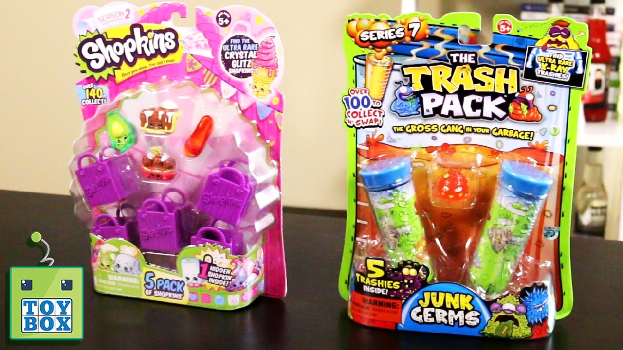 Series 2 SHOPKINS & Series 7 TRASH PACK!