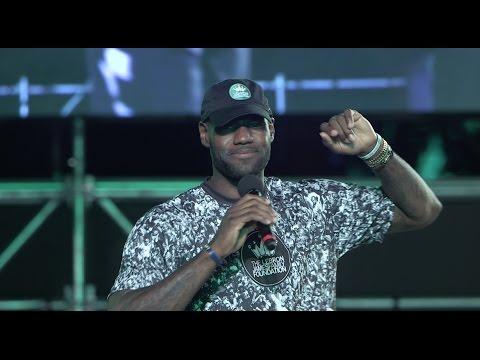 LeBron James addresses his Family Foundation at Cedar Point