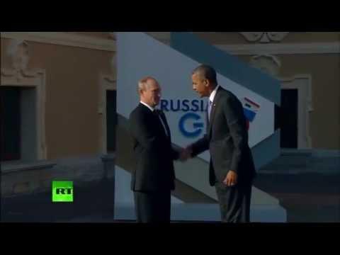Первая встреча Путина и Обамы после инцидента со Сноуденом (видео)