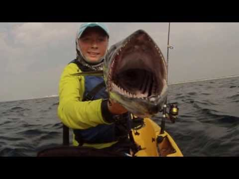 Kayak Fishing King Mackerel Fight! Trolling Destin Florida – Hobie – GoPro