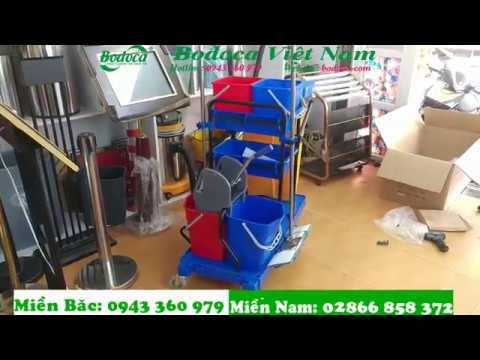 Hướng dẫn lắp ráp xe làm vệ sinh bệnh viện AF08173, xe làm vệ sinh công nghiệp