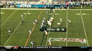 Johnathan Franklin vs Rice (2012)