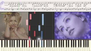 Белое небо - Тина Кароль (Ноты и Видеоурок для фортепиано) (piano cover)