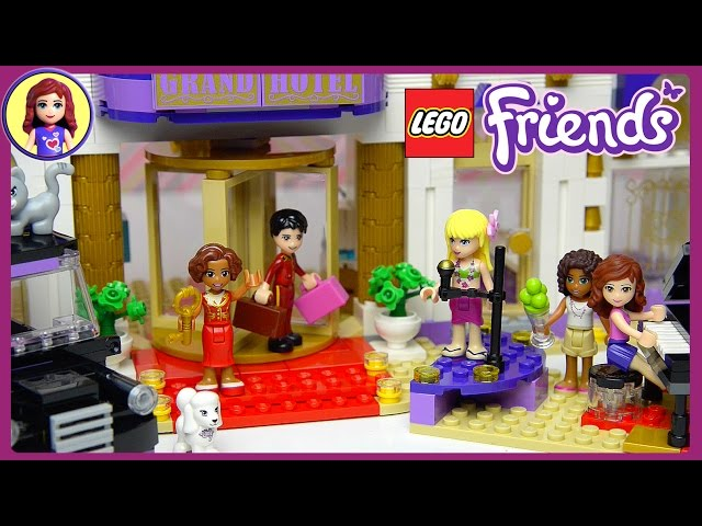lego friends heartlake grand hotel set unboxing building review part two kids toys. Black Bedroom Furniture Sets. Home Design Ideas