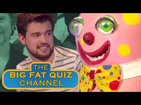 "Mr Blobby makes a guest appearance on ""The Big Fat Quiz of the 90s"". One of the most absurd and hilarious bits of television I've ever watched."