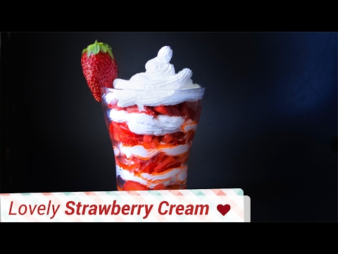 Strawberry With Whipped Cream - Valentine's Day Special - Strawberry With Cream
