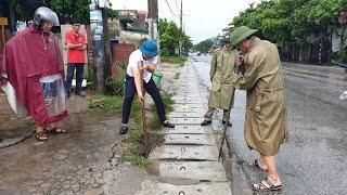 Hộ dân tự ý chặn cống thoát nước gây ngập cục bộ tại km 1 - QL10, phường Phương Đông