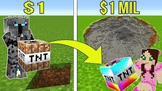 Video Minecraft: 1 DOLLAR TNT VS 1,000,000 DOLLAR RAINBOW TNT!!! Crafting Mini-Game MP3, 3GP, MP4, WEBM, AVI, FLV Juni 2019