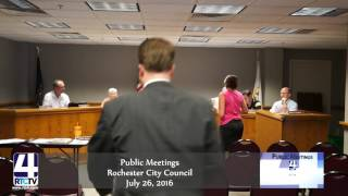 Public Meeting - Rochester City Council