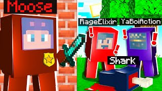 Playing as IMPOSTER AMONG US in MINECRAFT! (w/ RageElixir,YaBoiAction, Shark, GarryPlays, Kutto)