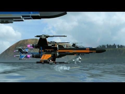 7 Minutes of LEGO Star Wars: The Force Awakens Flight Combat 1080p