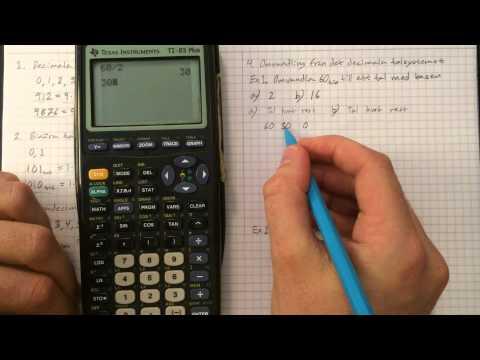Talsystem med olika baser  (bl.a. det  binära- och hexadecimala talsystemet)