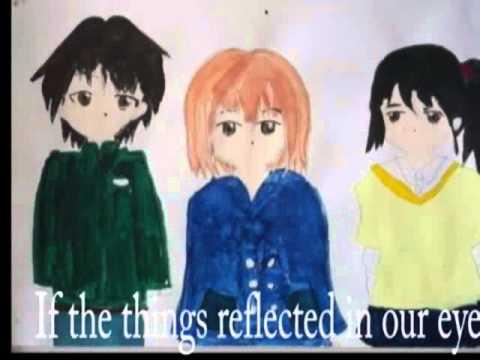 広島市立二葉中学校美術部制作「ねがい」2013