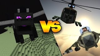 ENDER DRAGON VS FIGHTER JETS, HELICOPTERS, MISSILES,&MORE! | Minecraft Boss Fight