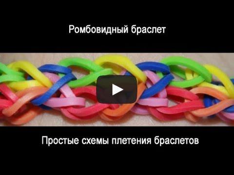 Видео как плести браслеты из резинок лёгкие