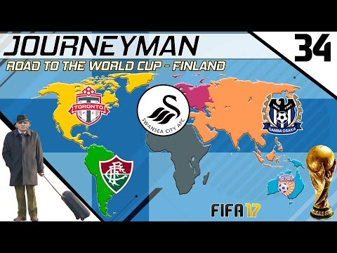 Fifa 17 - Journeyman - Road to the World Cup - #34 (Swansea) (видео)