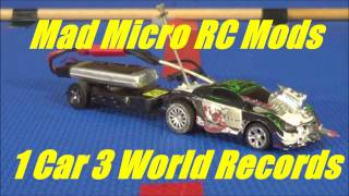 Mad Micro RC Mods 3 World Records in one vid using 1 Coke Can Car Coke Can Car Distance, S1 Distance and 1:58 DistanceWorld Records set in this vidThis was to be the 2000 subscriber comp give away vid but sadly it has been held off until I can fun the prize and postage mainly.But I hope now all understand y the gap in vids this one took much work and time to do, but I have more on the way for next week. Please enjoy if you do help me grow to do better and more of these vids tell a friend, subscribe, share, thumbs + and spread.Got some extra change donate to a video production. Thank you Adam VA of AVA Magnetic Levitation AUS