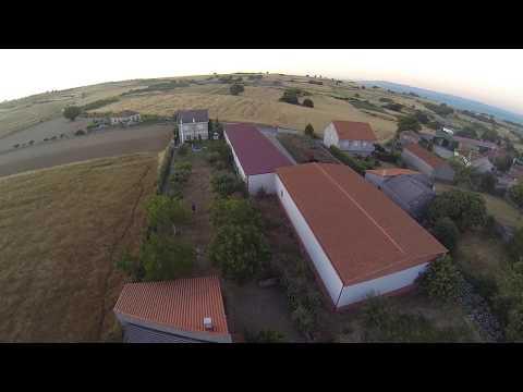 Vistas panorámicas desde un dron en el concello de Os Blancos,Ourense(Galicia)