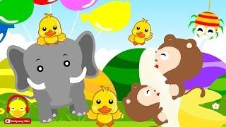 รวมเพลงเด็กฟังยาวๆ เป็ด ช้าง ลิง แมงมุม