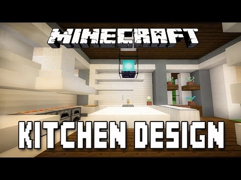 Minecraft tutorial modern kitchen design how to build a modern house kc exhaust - Kitchen design tutorial ...