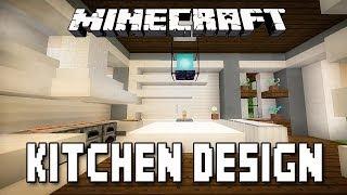 Minecraft Tutorial:  Modern Kitchen Design  (How To Build A Modern House  Ep.12)