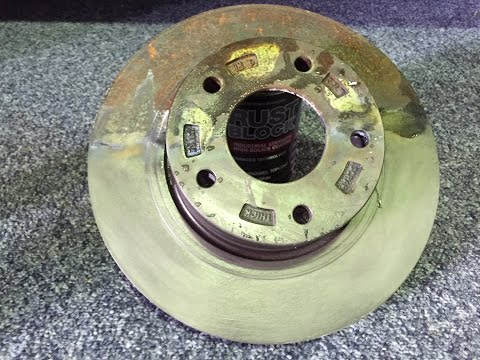 Easy Rust Removal on Brake Rotor