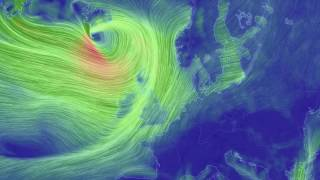 Winds surrounding Storm Barbara as she batters the UK and Ireland this afternoon