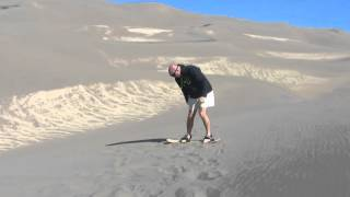 Preparing for Bull Running While Sand Boarding