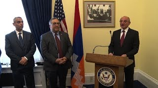 US Membrs of Congress Welcome Artsakh President to Capitol Hill on Historic Visit. Members of an Armenian Parliamentary Delegation Visit the US