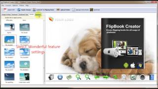 Awesome flipbook creator to create page turning flash book
