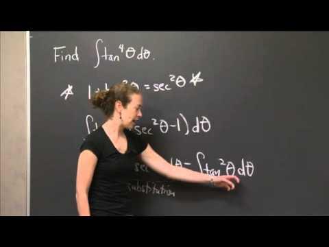 Integral of tan^4 (theta) | MIT 18.01SC Single Variable Calculus, Fall 2010