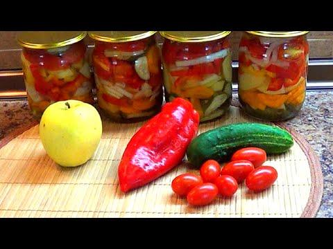 Огурцы салат с помидорами на зиму рецепты с