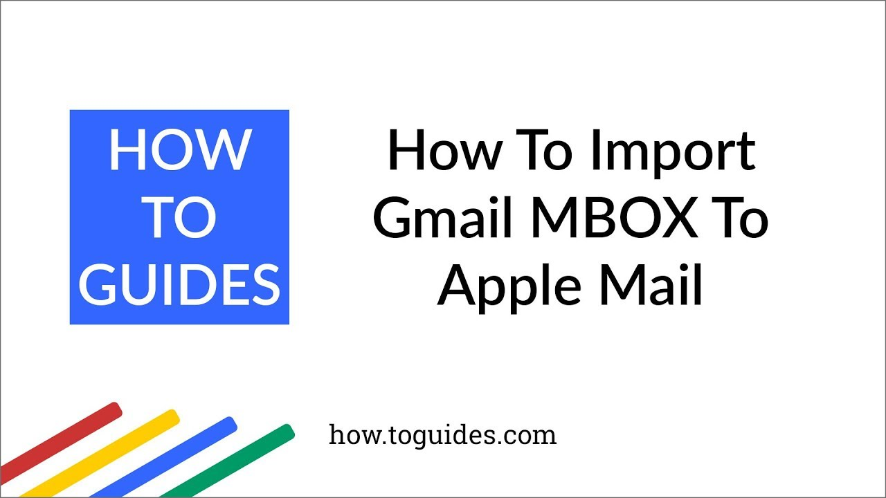 Import MBOX files to Apple Mail