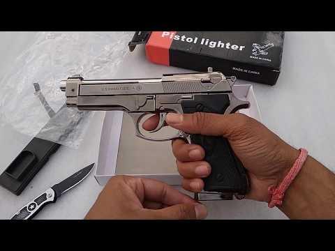 9MM Beretta Lighter Gun    Unboxing